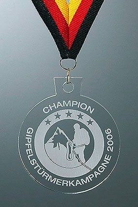 3D-Laser Acrylglas Medaille