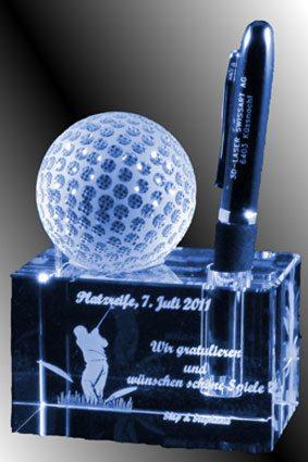 3D-Laser Golf Award Penholder Lasergravur