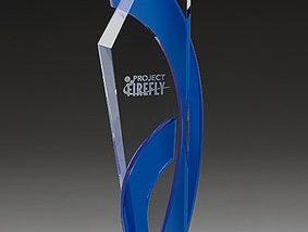 3D-Laser Kristallglas Trophy Lasergravur
