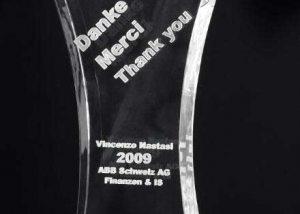 Award Taille mit Glasgravur