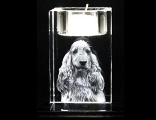 Geschenk aus Kristallglas: Teelicht – Kerzenhalter / Geschenke der besonderen Art