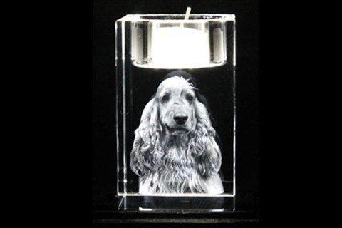 Weihnachtsgeschenk - romantisches Geschenk mit 3D-Glasgravur