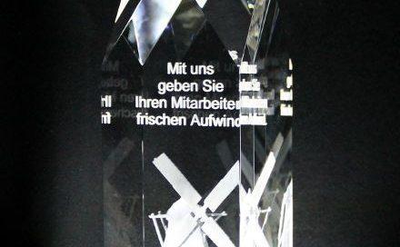 Innenglasgravur 3D Modell Award