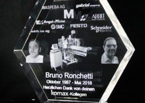 3d lasergravur Award Hexagon