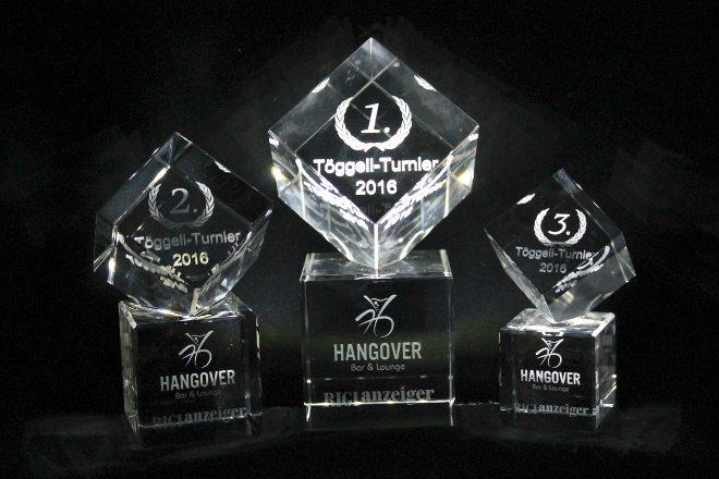 3D Lasergravur Awards aus Glas Serie Napoleon