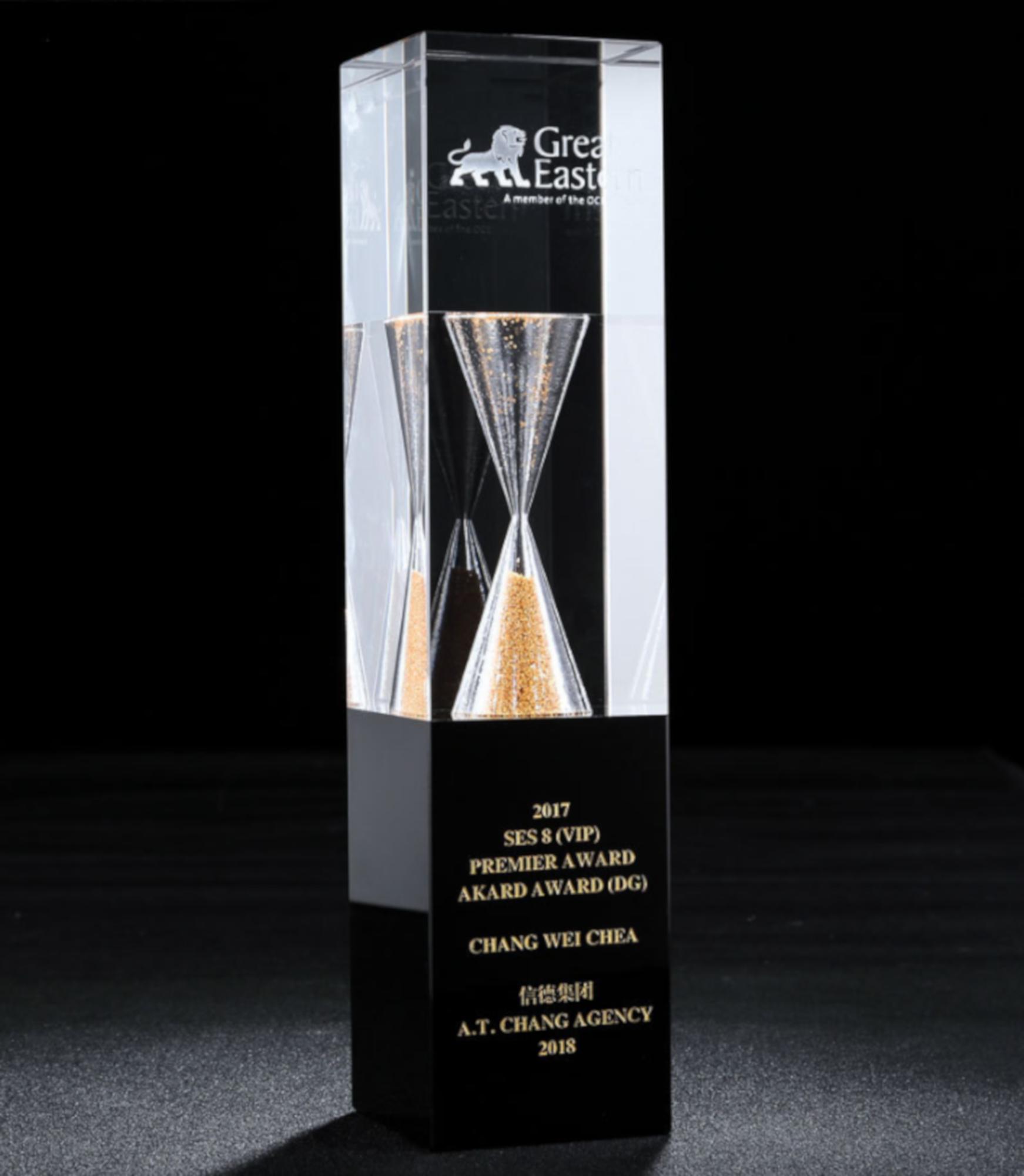 sanduhr award trophäe ehrungspreis
