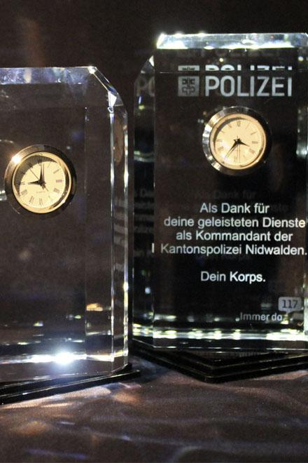 Uhren Glas mit Gravur Abschiedsgeschenk Verein