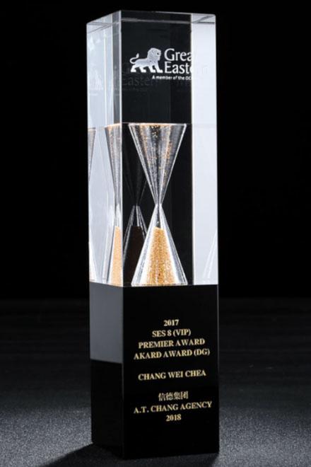 3D-Laser Kristallglas Jassen Wanderpreis