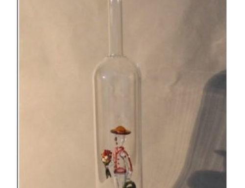 Schnaps-Flasche mit 3D-Motiven